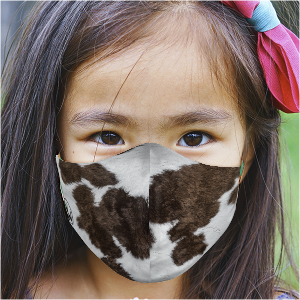 YOUTH COWHIDE FACE MASK