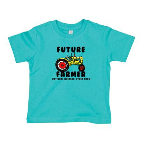 TODDLER SHORT SLEEVE TEE FUTURE FARMER-TURQUOISE