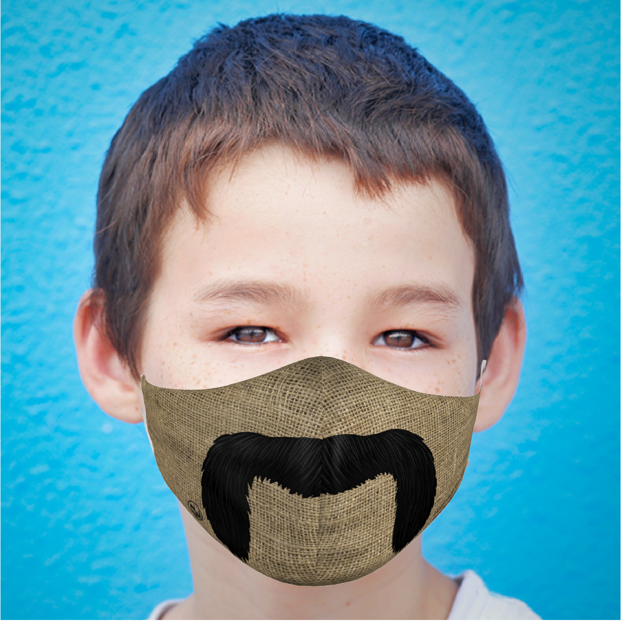 YOUTH MUSTACHE FACE MASK
