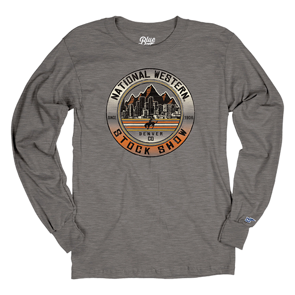 ADULT UNISEX LONG SLEEVE TEE SLOW SLIDE-CHARCOAL