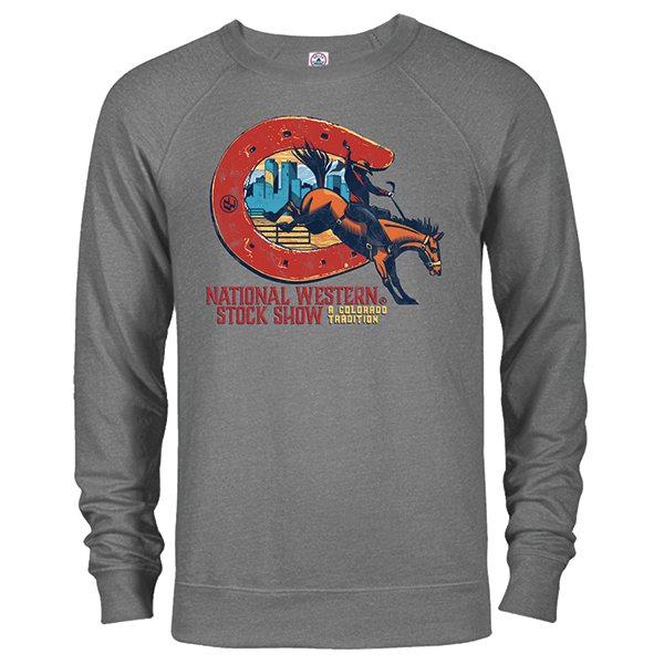 ADULT CREW SWEATSHIRT COLORADO TRADITION-GRAPHITE HEATHER