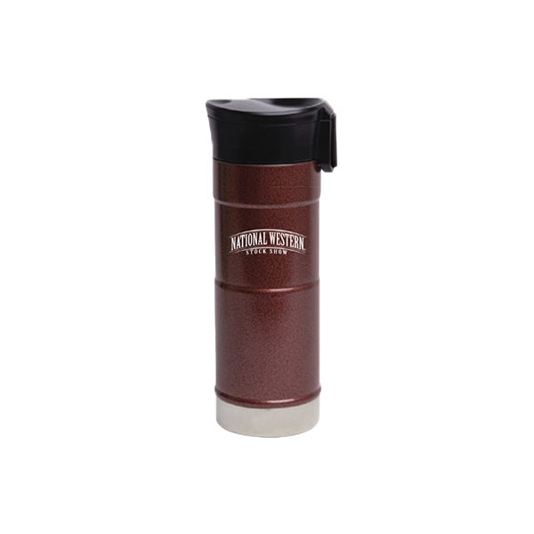 TRAVEL TUMBLER STAINLESS STEEL BURGUNDY