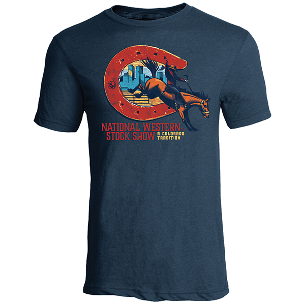ADULT SHORT SLEEVE TEE COLORADO TRADITION-INDIGO
