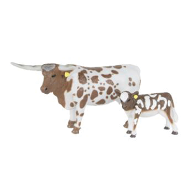 LONGHORN COW & CALF