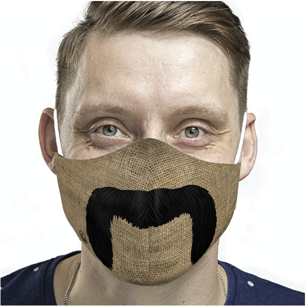 ADULT MUSTACHE FACE MASK