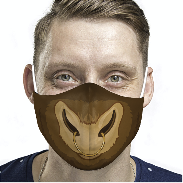ADULT BULL FACE MASK