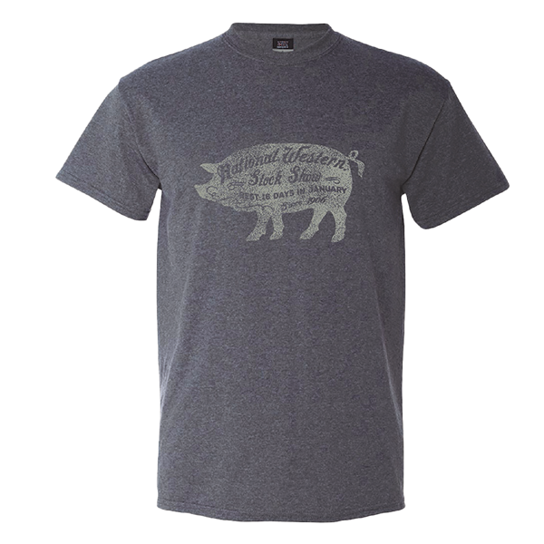 ADULT SHORT SLEEVE TEE NWSS PIG-CHARCOAL